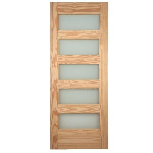 5 Lite Pine Barn Door Model Number Rdfli 37 Menards Sku 4310275