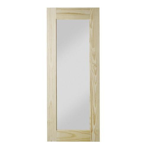Colonial Elegance Reflex Model Natural Pine Interior Barn Door With