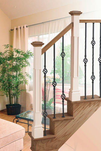wrought iron spindle with interesting wrought iron.htm mastercraft   contemporary wrought iron 35 7 8  1 basket stair  mastercraft   contemporary wrought iron