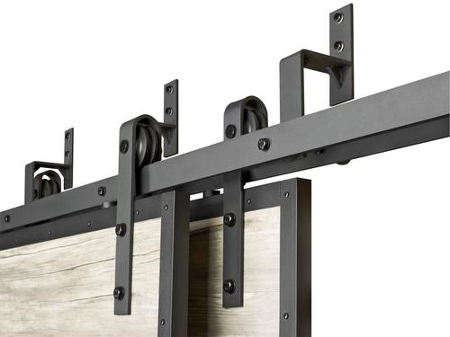 Colonial Elegance Black Bypass Bracket For A Double Barn