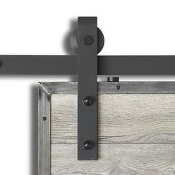 Colonial Elegance Matte Black Steel Rustic Sliding Barn Door Kits  sc 1 st  Menards : barn doors interior - zebratimes.com