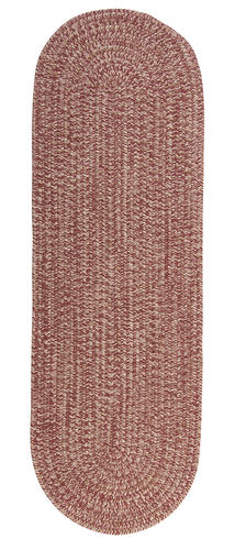 "Colonial Mills™ Andover Tweed Rosewood Braided Area Rug 2'6"" x 9'"