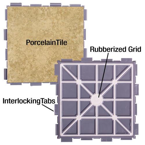 SnapStone® 6 x 6 Interlocking Porcelain Floor Tile at Menards®