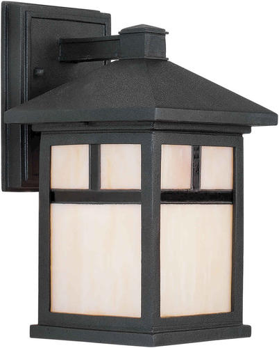 Photon 1-Light 10.5'' Black Outdoor Wall Light