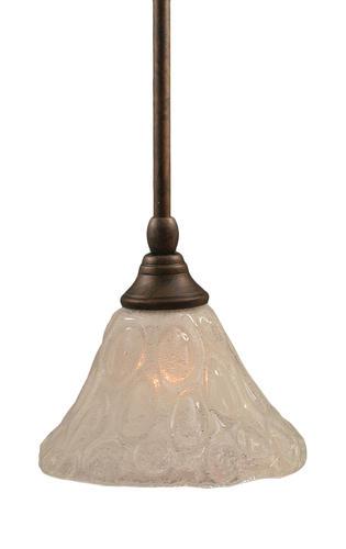 Photon 1-Light 6.25'' Bronze Mini-Pendant with Italian Bubble Glass