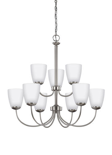 Bannock 9 Light Brushed Nickel Chandelier At Menards