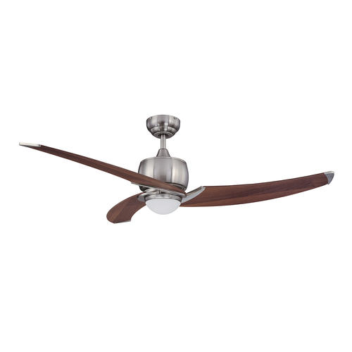Ines 52 In. Indoor Satin Nickel Ceiling Fan
