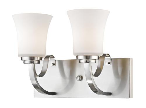 Photon Lighting Lacey 2 Light Brushed Nickel Vanity Light At Menards
