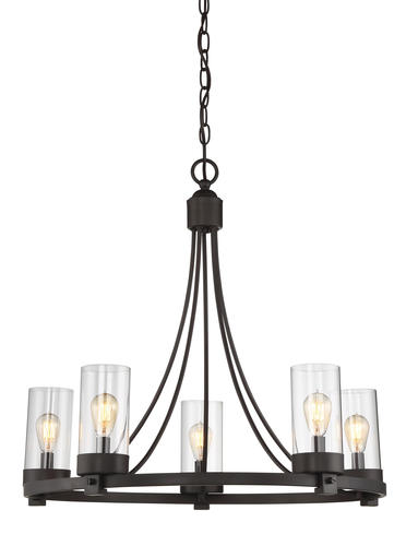 Photon Lighting 5 Light Oil Rubbed Bronze Chandelier At Menards