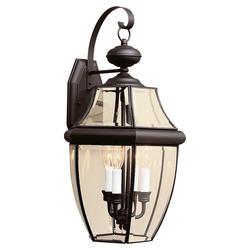 8510-12 Black w// Clear Beveled Glass Sea Gull Lighting Outdoor Wall Lantern