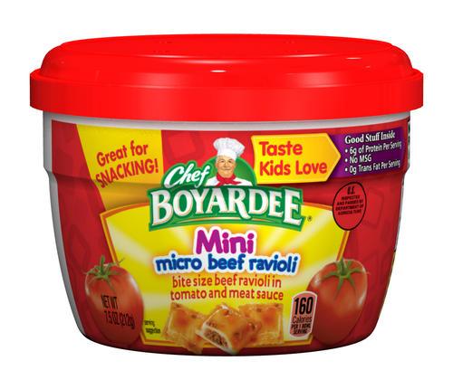 Chef Boyardee Microwave Bowl Beef Ravioli Mini Bites 7 5 Oz