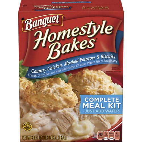 Banquet® Homestyle Bakes® Country Chicken, Mashed Potatoes and Biscuits Meal Kit