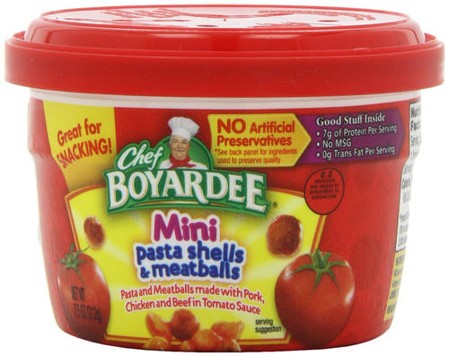 19af213a585e Chef Boyardee® Mini Pasta Shells and Meatballs - 7.5 oz at Menards®