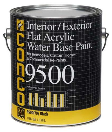 Conco 9500 Flat Black Water Based Interior Exterior Acrylic Paint 1 Gal At Menards