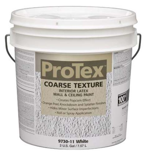 ProTex White Texture Interior Latex Wall Ceiling Paint 2 gal