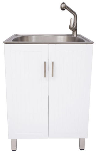 Tuscany Stainless Steel Utility Sink Cabinet Kit At Menards