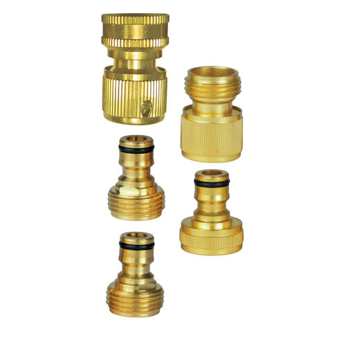 Yardworks 5 Piece Brass Quick Connect Set At Menards