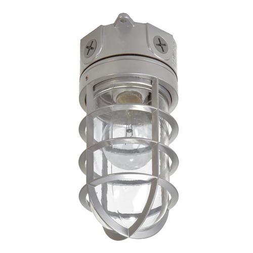 Halo Gray Single Head Vapor Outdoor Security Flood Light