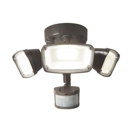 Outdoor Flood Light Bulbs Menards: Halo LED Triple Head Motion Sensing Outdoor Security Flood