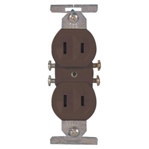 two duplex outlets wiring eaton non grounding duplex receptacle 15a 125v brown at menards    eaton non grounding duplex receptacle