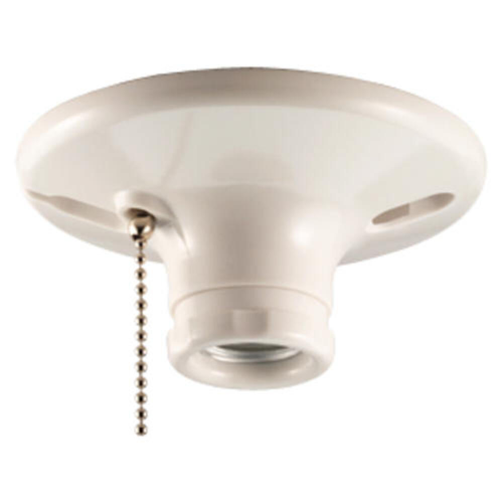 Eaton Lampholder With Pull Chain Switch White At Menards