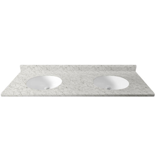 Customcraft Countertops 73 W X 22 D Laminate Vanity Top With Double Integrated Bowls 18 1 2 From Ends At Menards