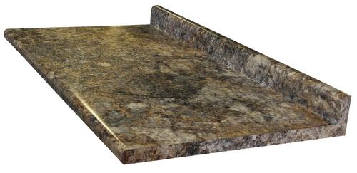 Golden Mascarello Laminate Countertop With Both Ends Ced Model Number Ctop Gld Masc 25x61 Beca Menards Sku 4852207