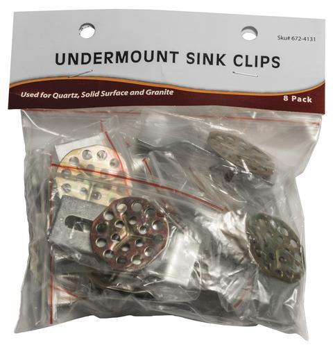 Undermount Sink Clips Model Number Sinkclips8pk Menards Sku 6724131
