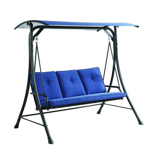 Backyard Creations 3 Person Blue Patio Swing At Menards