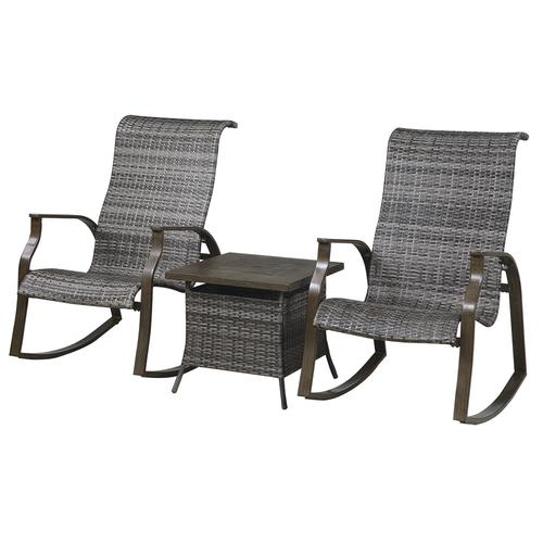 Fine Backyard Creations Mayfair Collection 3 Piece Fire Patio Machost Co Dining Chair Design Ideas Machostcouk
