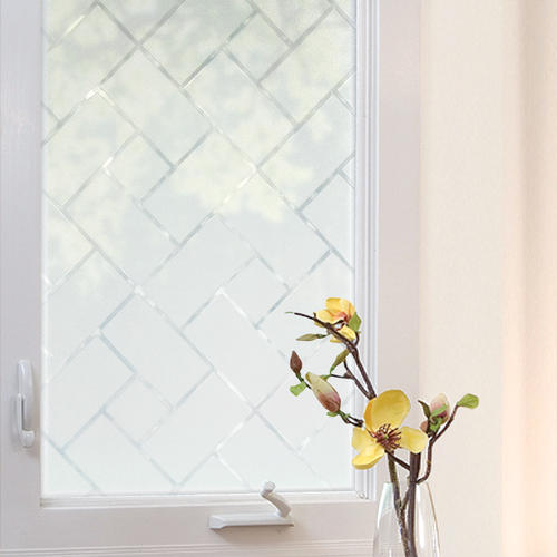 decorative windows for bathrooms frosted vinyl for.htm gila   3 w x 6 1 2 l frosted tile window film at menards    frosted tile window film at menards