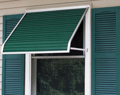 3100 Series Aluminum Window Awning With Open Side Support Arms 33 Projection At Menards