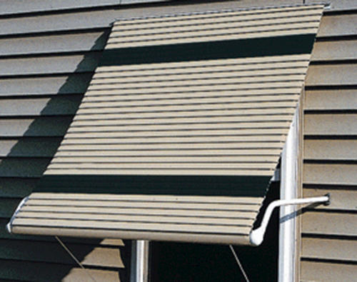 5500 Series Aluminum Roll-Up Window Awning with Open Sides