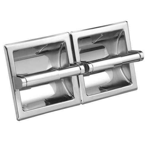 Chrome Moen R5580 Commercial Double Roll Toilet Paper Holder