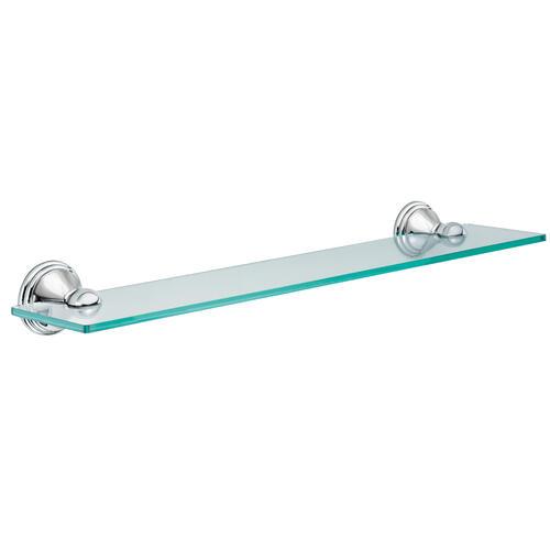 glass bathroom shelf chrome