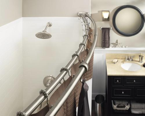 Moen Double Curved Shower Rod.Moen Double Curved Shower Rod At Menards