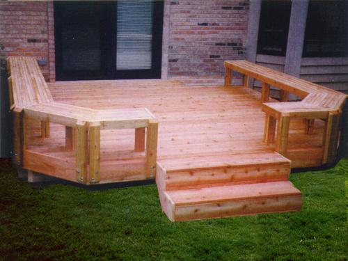 Butcher Block Bench Deck Building Plans Only At Menards