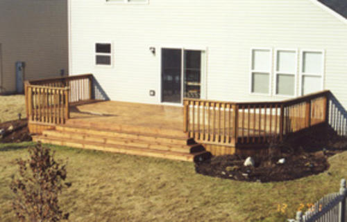 12' x 24' Deck with Wide Stairs - Building Plans Only at