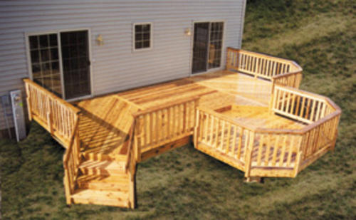 12 X 26 Deck With 10 Step Down Octagon Building Plans Only At Menards