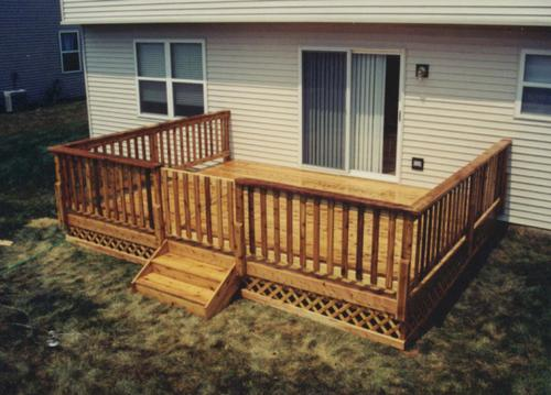 16 x 14 deck with gate and apron building plans only at menards