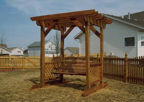 Trellis Arbor Swing   Building Plans Only At Menards®