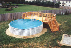 12' x 22' Leisure Pool Deck - Building Plans Only