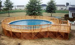 12' x 16' Pool Deck - Building Plans Only