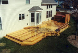 16' x 46' Deck with Hot Tub Area - Building Plans Only