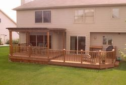 Deck with Trellis Arbor - Building Plans Only