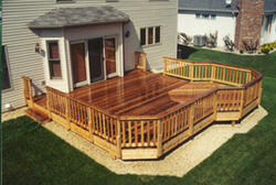 20 X 20 Deck With 10 Extension Building Plans Only At