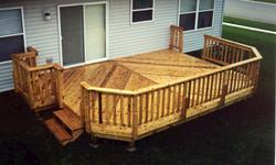 Deck with Grill Bump Out - Building Plans Only