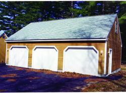 3-Car Eave Entry Garage - Building Plans Only