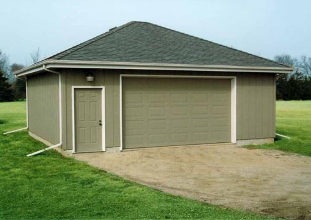 2 Car Hip Roof Garage Building Plans Only At Menards