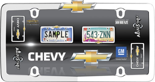 Chrome//Gold Cruiser Accessories 10437 Chevy License Plate Frame